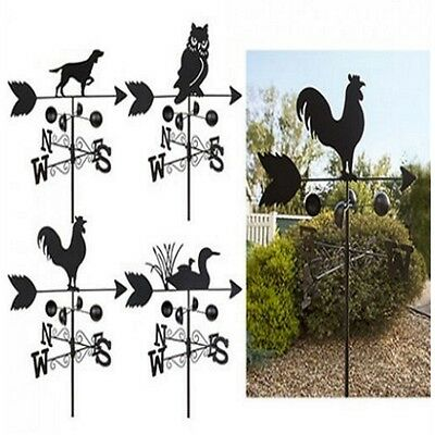 1.4M Garden Animal Design Weathervane Metal Ornament Wind Spinner Weather Vane
