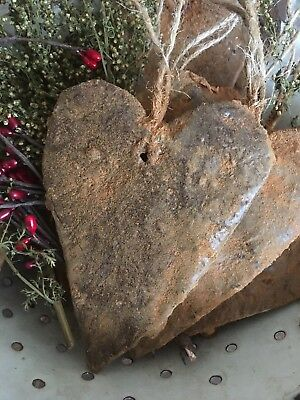 6 Primitive Valentines Heart Bowl Fillers Ornies