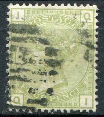 (341) VERY GOOD LIGHTLY USED SG153 QV 4d SAGE GREEN PLATE 16