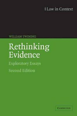 Law in Context: Rethinking Evidence: Exploratory Essays 9780521675376