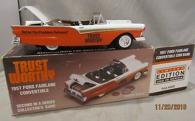 Trust Worthy Hardware 1957 Ford Fairland Convertible Bank New