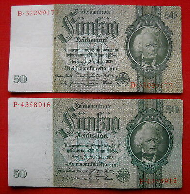 Lot with 12 x 50 Mark Money/Banknote from German Land 1933, all in very nice !!
