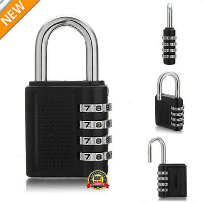 4 Digital Combination Password Padlock Portable Travel Luggage Safety Code Lock