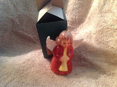 Goebel 1976 First Edition Annual Christmas Tree Ornament red Dress Angel Bell