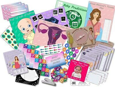 Baby Shower Party Games  -  10 GAMES PACK  -  UNISEX    20 players
