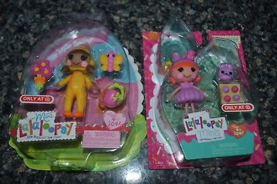 Lot Of 2 New Mini Lalaloopsy Dolls May Little Spring Bouncer Fluffy Tail Target