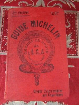 ancien guide michelin 4 eme edition 1903 tres rare carnet de route l AGA