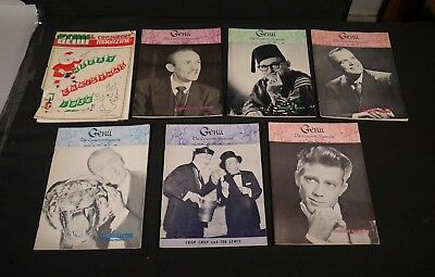 Lot of 7 1959 Genii The Conjurors Magazine MAGICIANS Magazines