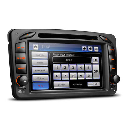 """7"""" HD Car DVD USB SD Aux Stereo With Bluetooth & Navigation For Mercedes"""