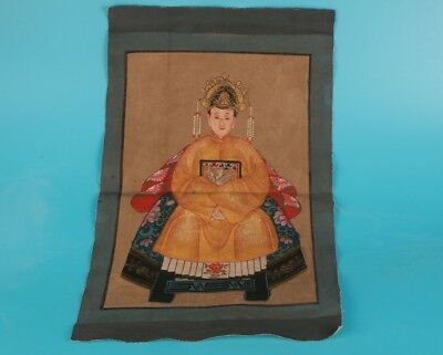 Antique Chinese Paper Scroll Paintings Hand-Painted Queen'S Old Decorative Gift