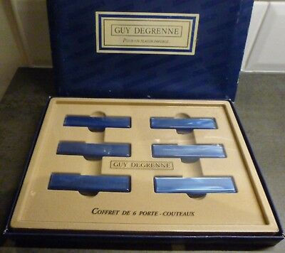 Guy Degrenne 6 Knife Rests...boxed