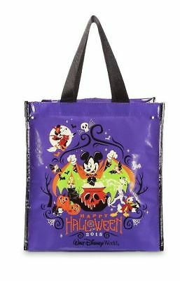 Disney Parks Halloween 2018 Shopping Tote Bag Mickey and Friends NWT Ships Free