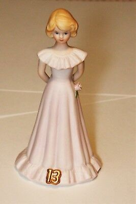 Ceramic Porcelain Growing Up Girls 13 Young Lady Figurine