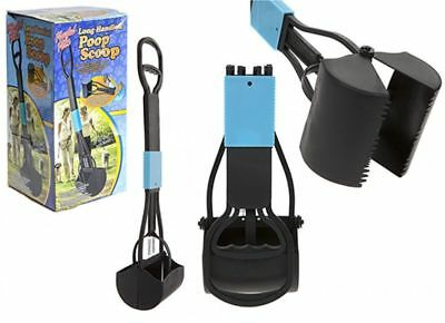 Long Handled Foldable Pooper Scooper Scoop Pet Dog Walking Pick Up Grabber Poop