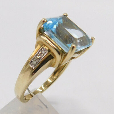 Antiker Art Deco echt Gold Topas Diamant Prunkring Ring Gr. 57 D820