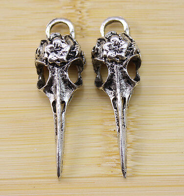 5 pcs restoring ancient ways alloy Long mouth bird Charm Pendants  42x13 mm