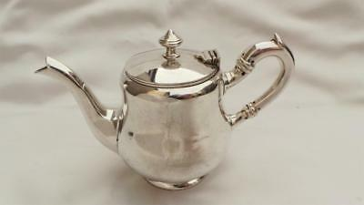 Charming Little Antique French Silver Plated Afternoon Teapot ~ By 'boulenger'
