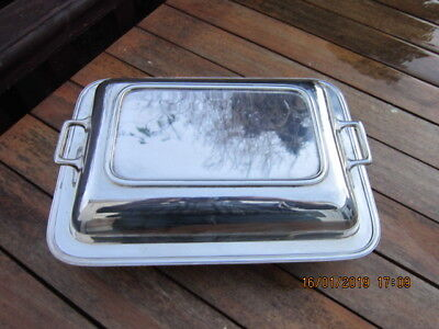 Antique Rectangular Entree Dish Serving Dish Silver Plated HARRODS