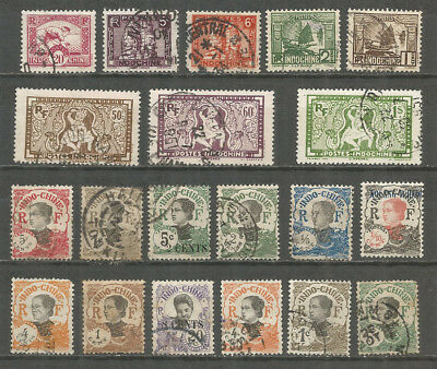 INDO-CHINA , nice old used stamps