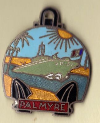 French Indochina War Riverine/Amphibious Forces Badge Palmyre VP31 Vedette