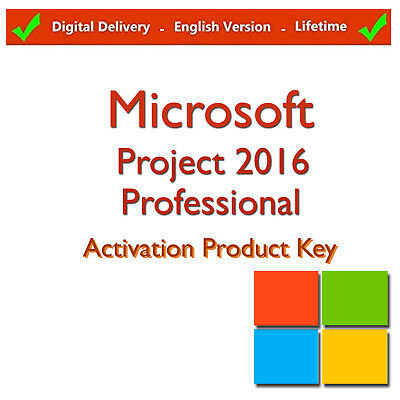 Microsoft Project 2016 Professional 1user Key + Program Download link