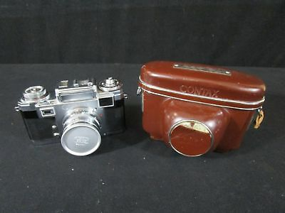 Vintage Zeiss Ikon Contax IIIa Camera with Lens and Case Unit is Untested (140)
