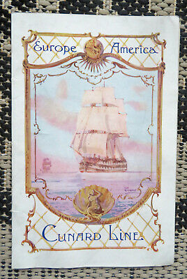 Antique Lusitania Cunard Ship Lines 1914 Saloon Passenger List-Information Book