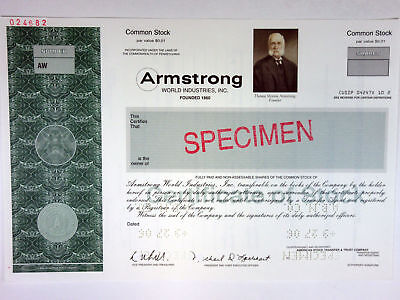 PA. Armstrong World Industries, Inc., 2006 Specimen Stock Certificate, XF ABNC