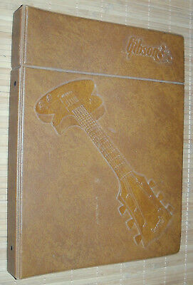 """COOL Vintage 1975 Gibson Guitar Counter Catalog - Very Large (16-5/8"""" x 13-1/8"""")"""
