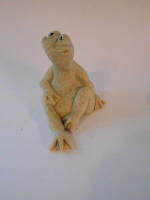 Quarry Critters Freddie Frog By Second Nature Design 2000 Soapstone Paper Weight