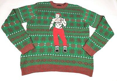 f07a801121ccc1 Blizzard Bay Men s Xmas-Fitness Ugly Christmas Sweater - Size XXL GREEN NWOT
