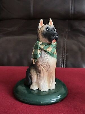 BYERS CHOICE - Carolers Christmas Dog German Shephard Collectable 5in Figurine