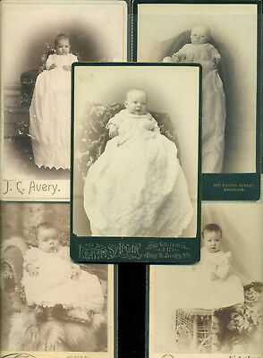 1890s Cabinet photos Cute BABIES and amazing dresses  Great Condition