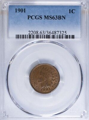 1901 Indian Head Cent PCGS MS63BN