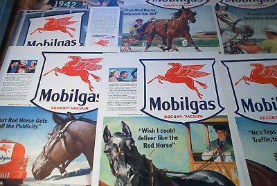 1940 to 1942 LOT MOBILGAS OIL Flying Red Horse Sign advertising pages