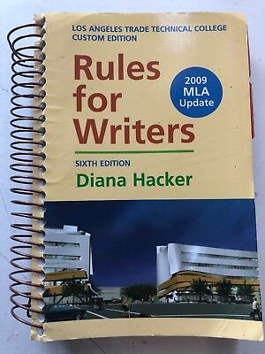 Rules for Writers with Tabs with 2009 MLA Update by Diana Hacker (2009, Spiral)