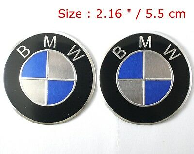 Motorcycle BMW Emblem Badge Aluminum Decals Stickers 2 Pcs