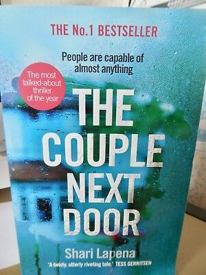 THE COUPLE NEXT DOOR by SHARI LAPENA PB READ ONCE PRISTINE COND 2017