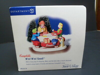 Dept 56 Snow Village Campbells Soup M'm M'm Good