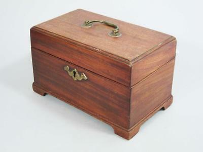 BEAUTIFUL GEORGIAN ANTIQUE MAHOGANY TEA CADDY GEORGE III 1780 box casket a