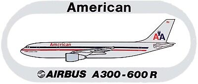 STICKER AUTOCOLLANT AIRBUS A300-600R AMERICAN AIRLINES v4 FUSELA.& BANNER CHROME