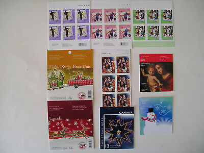 Canada Lot...9 Booklets...MNH..VF..Christmas Ones...Face Over $51.00