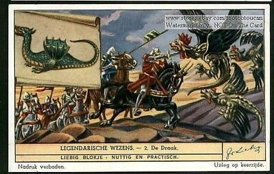 Dragon Animal Fantasy Magic Monster c60 Y/O Trade Ad  Card