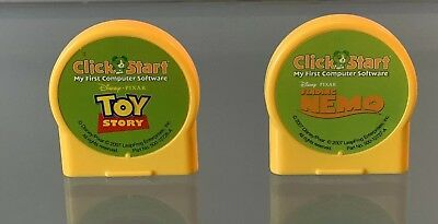Lot Leap Frog Click Start My First Computer Cartridge Finding NEMO & ToY Story