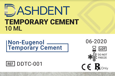 Dashdent™ Automix Non Eugenol Temporary Cement 10Ml + 6 Mixpac Tips Exp 06-20
