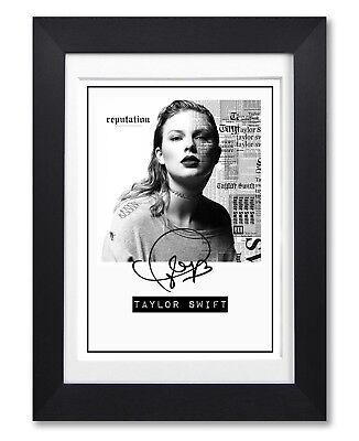 Taylor Swift Reputation Album Cover Signed Poster Print Photo Autograph Gift