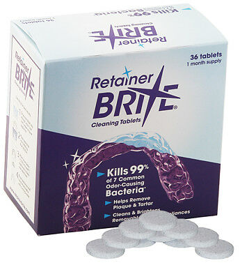 Retainer Brite 36 Tablets - New Formula + Protective Case