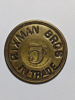 Illinois Trade Token - Rixman Bros / Hoyleton & Irvington, Il