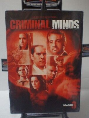 Criminal Minds - The Complete Third Season  NEW DVD FREE SHIPPING!!!
