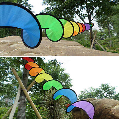 1PC Rainbow Spiral Windmill Tent Colorful Wind Spinner Garden  Decorations